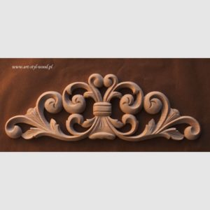 korona ornament drewniany KLF03
